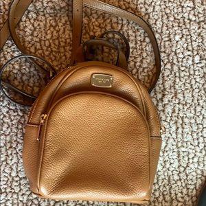 Michael Kors mini backpack purse